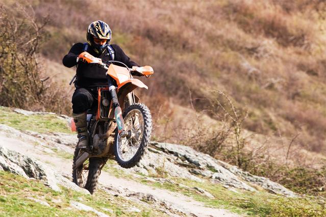 Motorkár, náročnejší prírodný terén