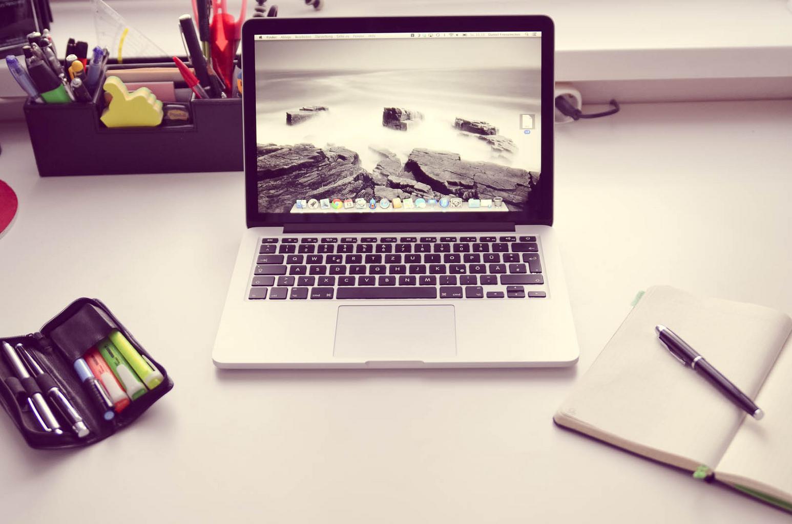 notebook, písanie
